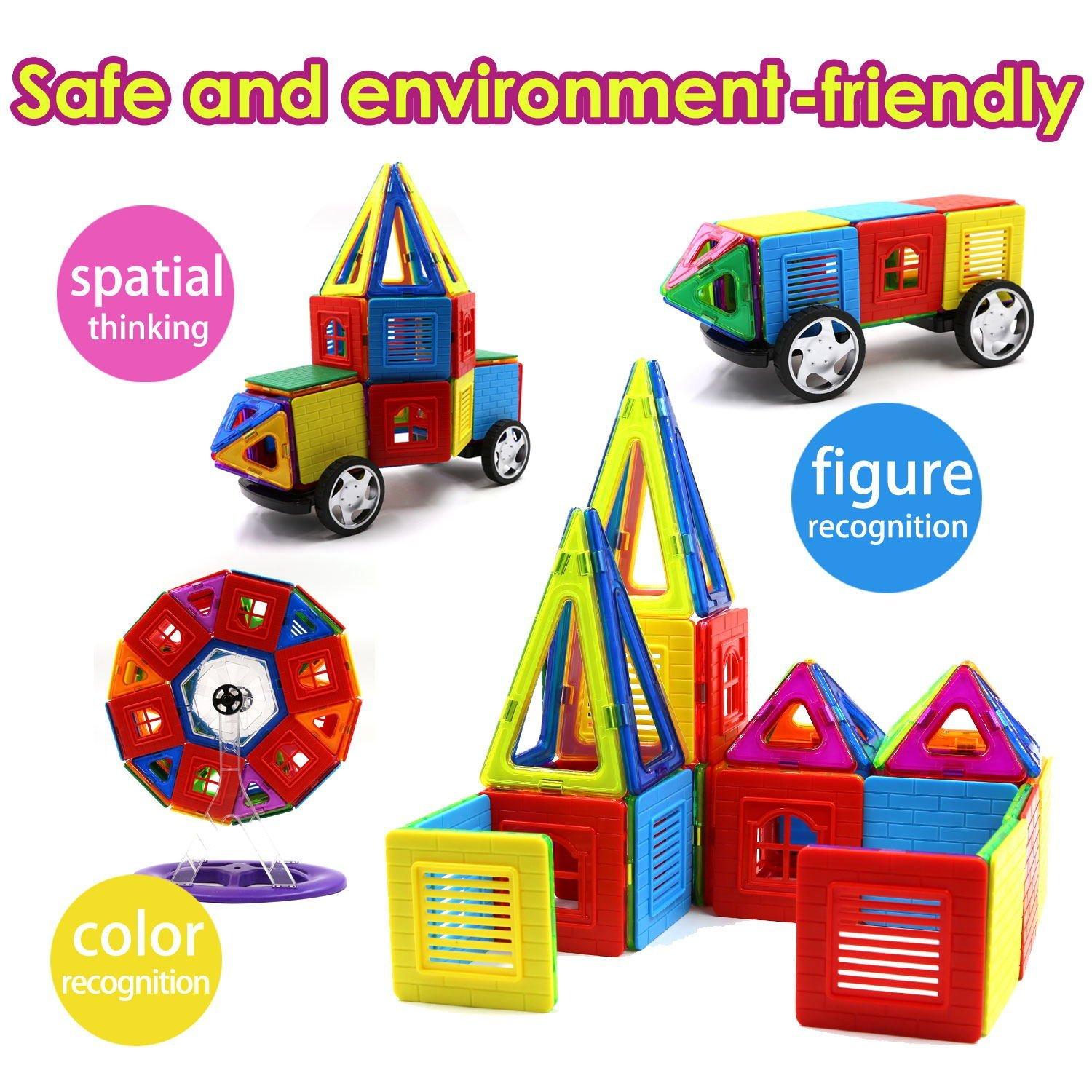 Children Hub 80pcs Magnetic Tiles Set Premium Quality Education