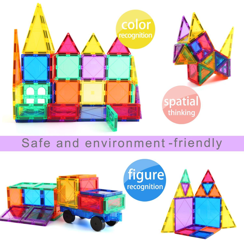Children Hub 46pcs Magnetic Tiles Set Building Construction Toys
