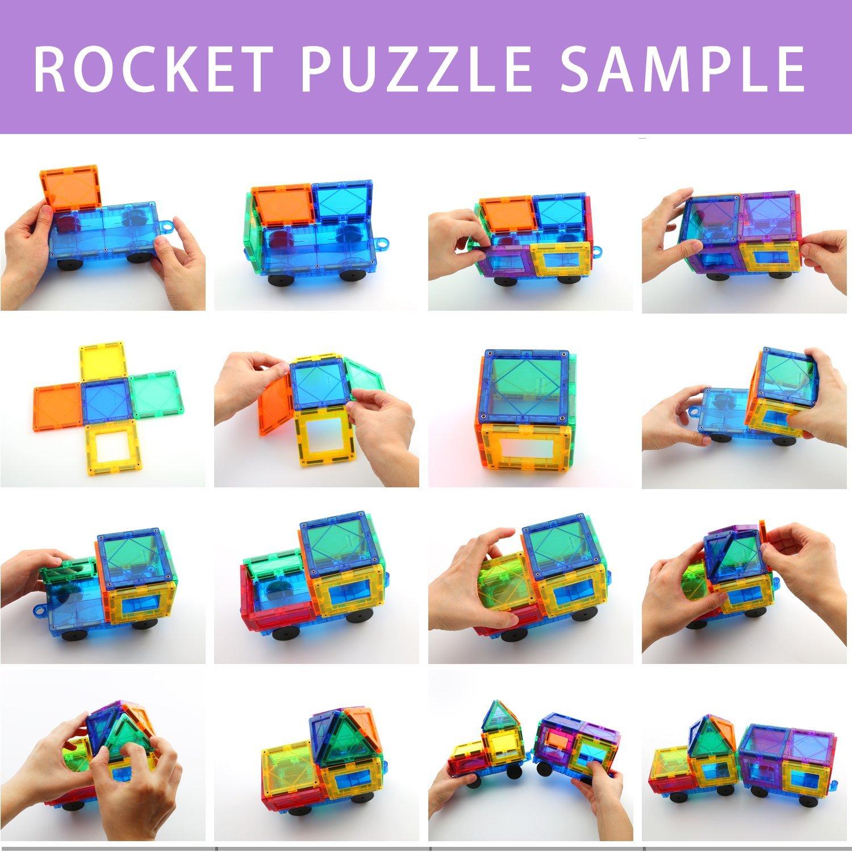 Construction Toys Product : Children hub pcs magnetic tiles set building