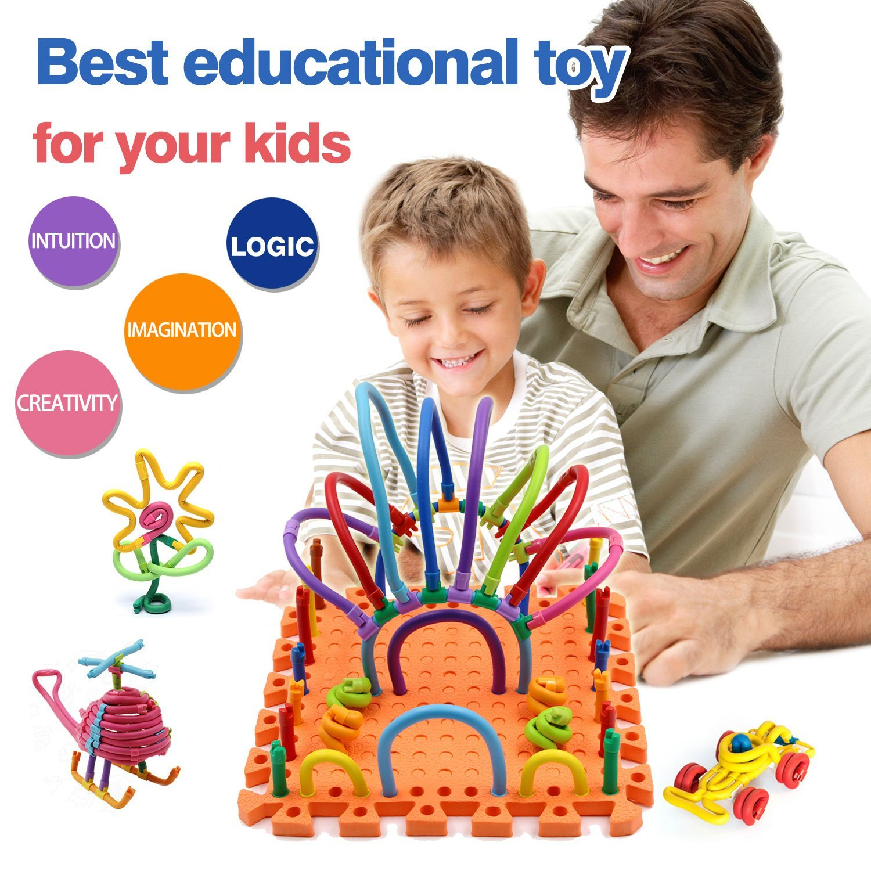 Children Hub 109pcs Creative Construction Toys For Kids Flexible