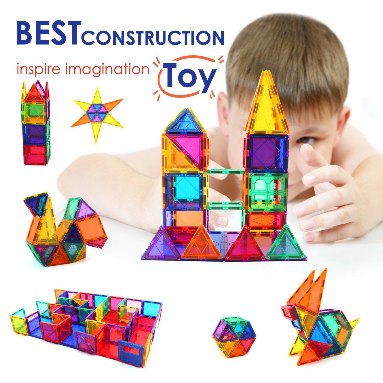 children hub 100pcs magnetic building set construction kit educational stem toys for your kids. Black Bedroom Furniture Sets. Home Design Ideas